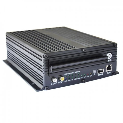 DVR AUTO CU 4 canale video  Real Time Recording  D1/HD1/CIF